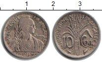 Изображение Монеты Индокитай 10 центов 1939 Медно-никель XF Рис