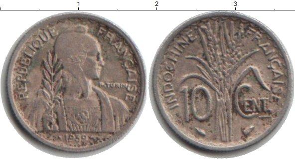 Картинка Монеты Индокитай 10 центов Медно-никель 1939