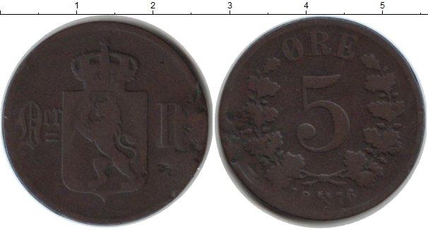 Картинка Монеты Норвегия 5 эре Медь 1876
