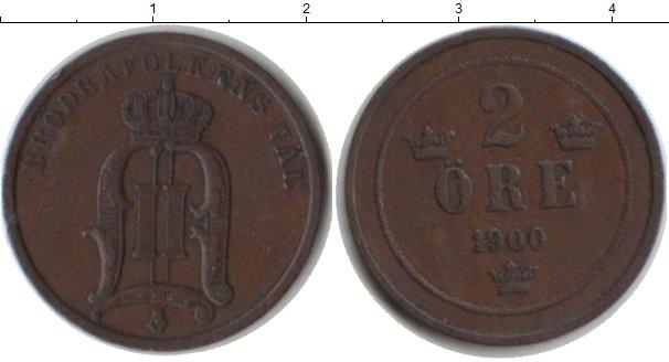 Картинка Монеты Швеция 2 эре Медь 1900
