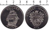 Изображение Мелочь Кирибати 1 доллар 2014 Медно-никель UNC Парусник Паллада. Но