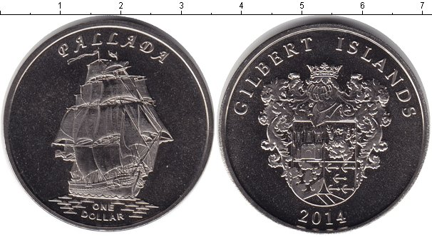 Картинка Мелочь Кирибати 1 доллар Медно-никель 2014