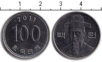 Изображение Дешевые монеты Корея 100 вон 2011 Медно-никель XF