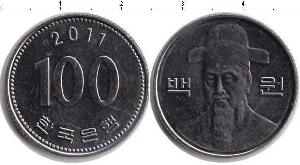Картинка Барахолка Корея 100 вон Медно-никель 2011