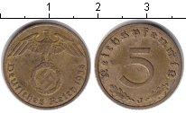 Изображение Монеты Третий Рейх 5 пфеннигов 1938  XF J
