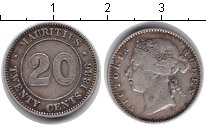 Изображение Монеты Маврикий 20 центов 1886 Серебро VF Виктория