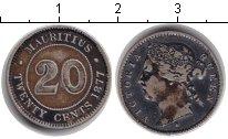 Изображение Монеты Маврикий 20 центов 1877 Серебро VF