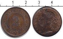 Изображение Монеты Маврикий 2 цента 1897 Медь XF Виктория