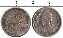 Изображение Монеты Индокитай 10 центов 1941 Медно-никель XF Растение
