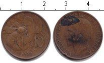 Изображение Монеты Италия 10 сентесим 1922 Медь VF