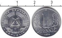 Изображение Монеты ГДР 1 пфенниг 1975 Алюминий UNC-