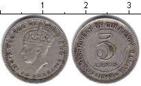 Изображение Монеты Малайя 5 центов 1943 Серебро XF