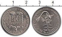 Изображение Монеты Западно-Африканский Союз 50 франков 1972  UNC