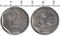 Изображение Монеты Франция 2 франка 1993 Медно-никель XF