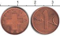 Изображение Монеты Швейцария 1 рапп 1982  UNC-