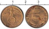 Изображение Монеты Третий Рейх 5 пфеннигов 1939  XF