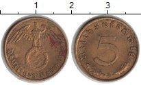 Изображение Монеты Третий Рейх 5 пфеннигов 1938  XF A