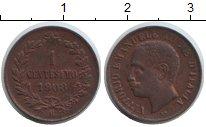 Изображение Монеты Италия 1 сентесимо 1903 Медь XF Витторио Имануил III