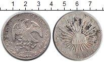 Изображение Монеты Мексика 8 реалов 1868 Серебро VF