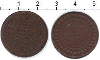 Изображение Монеты Тунис 5 сантим 1893 Медь XF Французский протекто