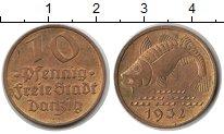 Изображение Монеты Данциг 10 пфеннигов 1932 Медь XF Вольный город Данцин