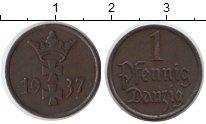 Изображение Монеты Данциг 1 пфенниг 1937 Медь XF