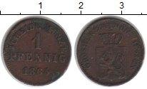 Изображение Монеты Гессен-Дармштадт 1 пфенниг 1865 Медь VF