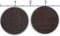 Изображение Монеты Вюртемберг 1/2 крейцера 1864 Медь XF