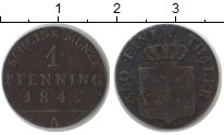 Изображение Монеты Пруссия 1 пфенниг 1842 Медь