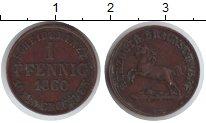Изображение Монеты Ганновер 1 пфенниг 1860 Медь Proof-