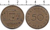 Изображение Монеты Саар 50 франков 1954 Медно-никель VF