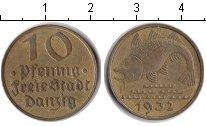 Изображение Монеты Данциг 10 пфеннигов 1932 Медно-никель VF Вольный город Данцин