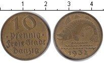 Изображение Монеты Данциг 10 пфеннигов 1932 Медь VF Вольный город Данцин