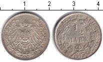 Изображение Монеты Германия 1/2 марки 1915 Серебро UNC-