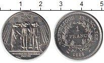 Изображение Мелочь Франция 1 франк 1989 Медно-никель UNC-