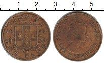 Изображение Монеты Ямайка 1 пенни 1962 Латунь VF