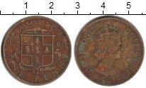 Изображение Монеты Ямайка 1 пенни 1960 Латунь VF