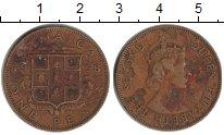 Изображение Монеты Ямайка 1 пенни 1958 Латунь VF