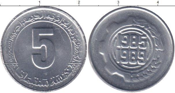 Картинка Мелочь Алжир 5 сантим Алюминий 1989