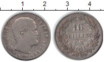 Изображение Монеты Дания 16 скиллингов 1856 Серебро VF