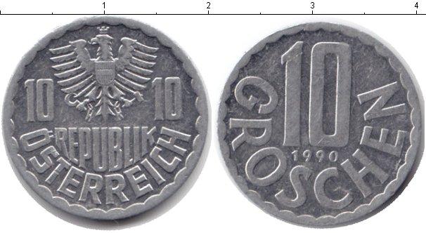 Картинка Барахолка Австрия 10 грош Алюминий 1990