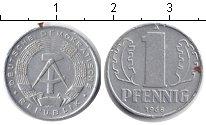 Изображение Дешевые монеты ГДР 1 пфенниг 1968 Алюминий VF
