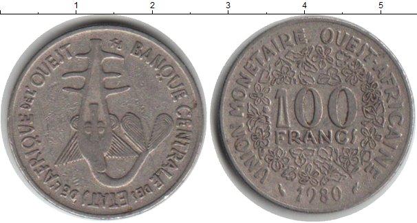 Картинка Монеты Западно-Африканский Союз 100 франков Медно-никель 1980