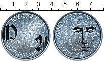 Изображение Монеты Финляндия 10 евро 2007 Серебро Proof- Микаэль Агрикола