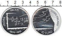 Изображение Монеты Финляндия 10 евро 2009 Серебро Proof-