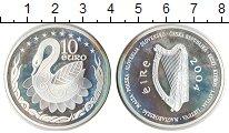 Изображение Монеты Ирландия 10 евро 2004 Серебро Proof- Лебедь