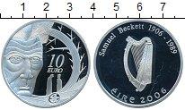 Изображение Монеты Ирландия 10 евро 2006 Серебро Proof- Самуэль Беккет