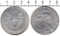 Изображение Монеты США 1 доллар 1998 Серебро UNC- Шагающая Свобода