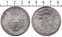 Изображение Монеты США 1 доллар 1991 Серебро XF Шагающая Свобода