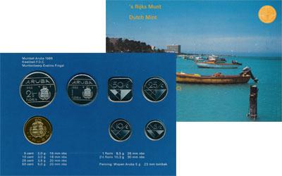 Изображение Подарочные монеты Аруба Выпуск 1988 года 1988  UNC Представляем Вашему